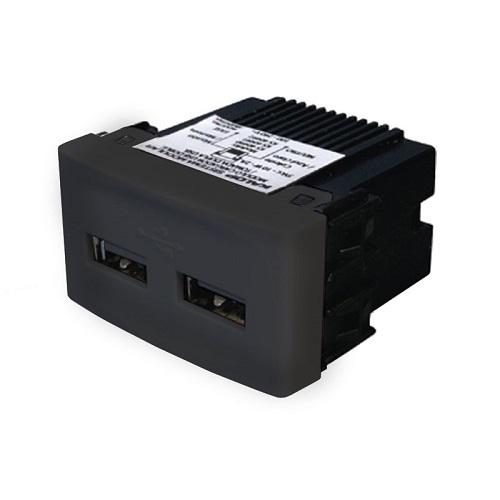 MÓDULO TOMA USB DOBLE CON BASTIDOR – KALOP